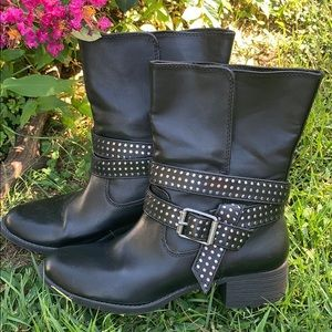 Simply Vera Vera Wang Ankle Leather Hig Booties